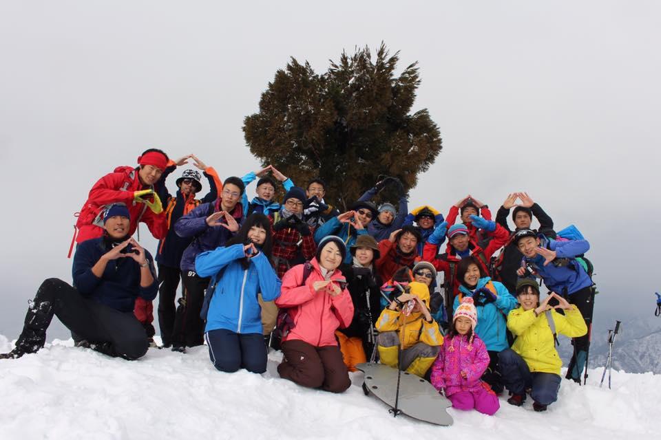 2017.3.11 sat. 坂戸山ラ部登山 雪山を存分に楽しむ。